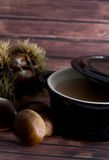 Chestnuts soup Stock Image