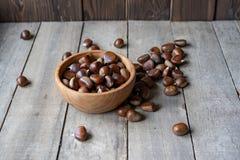 Chestnuts still life stock photos