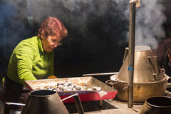 Chestnuts street seller. Lisbon. Portugal Stock Photo
