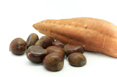 Chestnuts with sweet potato Stock Photography