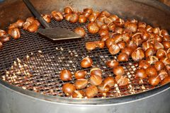 Chestnuts and their cooking, background Stock Photos