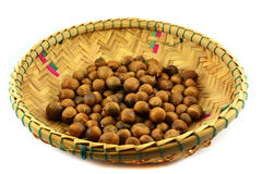 Chestnuts threshing basket Royalty Free Stock Photos