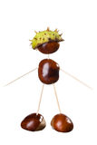 Chestnuts Toys Royalty Free Stock Images