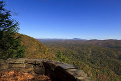 Chestoa View Overlook. View of Grandfather Mountain from Chestoa View Overlook on the Blue Ridge Parkway in North Carolina Royalty Free Stock Image