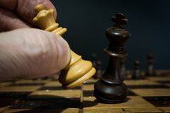 Chests and chessboard Royalty Free Stock Image