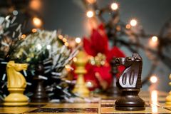 Chests and chessboard Royalty Free Stock Photo