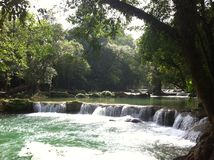 Chet Sao Noi National Park vattenfall Arkivbilder