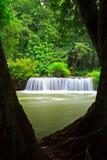 Chet Sao Noi vattenfall i Thailand Royaltyfria Foton