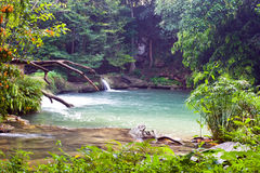Chet Sao Noi Waterfall at sixth level Royalty Free Stock Images