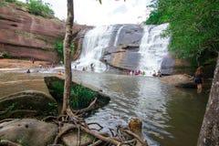 'Chet Si' vattenfall Bungkan Thailand Arkivfoton