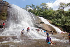 'Chet Si' vattenfall Bungkan Thailand Arkivbilder