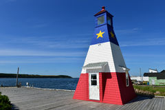 Cheticamp Harbour Lighthouse Royalty Free Stock Photos