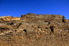 Chetro在Chaco峡谷的ketl废墟 免版税库存图片