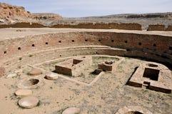 Chetro Ketl,伟大的Kiva废墟, Chaco峡谷,新墨西哥(美国) 库存照片
