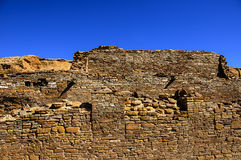 Chetro ketl ruin at Chaco Canyon Royalty Free Stock Image