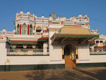 Chettinad宫殿,泰米尔纳德邦,印度 免版税图库摄影