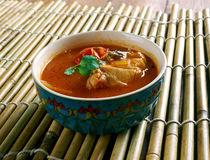Chettinad Chicken Rasam Stock Images