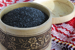 Chetvergova zoute schudbeker van berkeschors Royalty-vrije Stock Foto