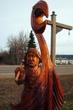 Chetynd British Columbia, Canada Carving. Welcome to Chetynd British Columbia, Canada. Home of World Class Chainsaw Carving royalty free stock photos