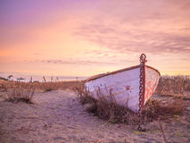 Chetzmoka Rowboat, Beached royalty free stock image
