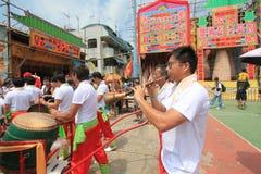 Cheung Chau Bun Festival in Cheung Chau in Hong Kong 2015 Stock Fotografie
