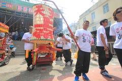 Cheung Chau Bun Festival in Cheung Chau in Hong Kong 2015 Stock Foto's