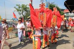 Cheung Chau Bun Festival 2015 en Hong Kong Foto de archivo