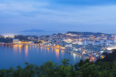 Cheung Chau island night view in Hong Kong Stock Image