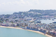 Cheung Chau island view from hilltop, Hong Kong. Stock Photography