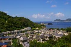 Cheung Chau sea view from hilltop, Hong Kong Stock Photos
