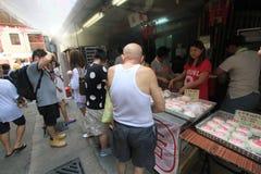 Cheung Chau-Straßenansicht in Hong Kong Lizenzfreie Stockfotos
