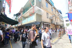 Cheung Chau street view in Hong Kong Stock Images