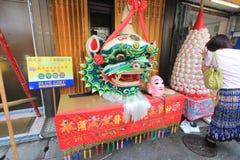 Cheung Chau street view in Hong Kong Stock Photography