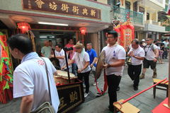 Cheung Chau street view in Hong Kong Royalty Free Stock Photo