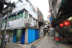 Cheung Chau street view in Hong Kong Royalty Free Stock Photography