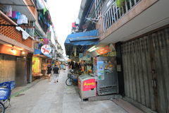 Cheung Chau street view in Hong Kong Royalty Free Stock Photos