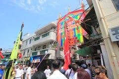 Cheung Chau uliczny widok w Hong Kong Obrazy Royalty Free