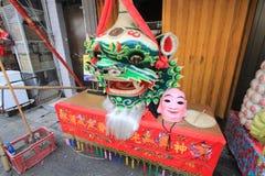 Cheung Chau uliczny widok w Hong Kong Obrazy Stock