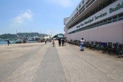 Cheung Chau uliczny widok w Hong Kong Zdjęcie Stock