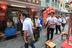 Cheung Chau uliczny widok w Hong Kong Zdjęcia Royalty Free