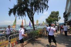 Cheung Chau uliczny widok w Hong Kong Zdjęcie Royalty Free