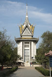 Choeung Ek Killing Field - Phnom Penh. This is one - perhaps the largest - of the Killing Field's in Cambodia. This one has a large central tower with Stock Photo