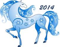 Cheval abstrait, le symbole de 2014 illustration stock