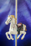 Cheval Antiqued de carrousel photos libres de droits