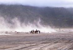 Cheval au volcan de Bromo Photo libre de droits