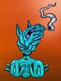 Cheval bleu Images libres de droits