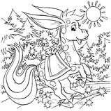 Cheval bossu magique Images libres de droits