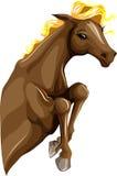 Cheval branchant Image libre de droits