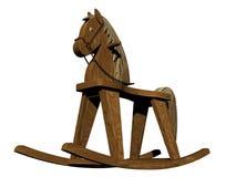 Cheval d'oscillation en bois Photographie stock