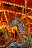 Cheval de carrousel au champ de foire Photos libres de droits